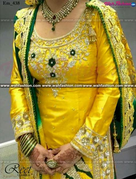 boutique in punjab hand embriodery machine embriodery mesmeric yellow and green hand embroidered punjabi suit