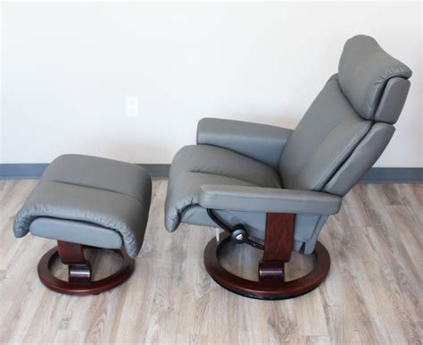 stressless magic recliner stressless magic paloma metal grey color leather by