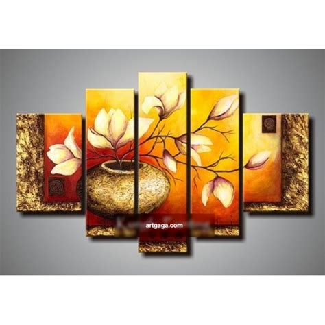 living room canvas art hand painted abstract 5 panel canvas art living room wall
