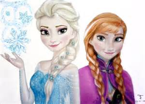 Anna Elsa Kids Drawing Images Amp Pictures Becuo