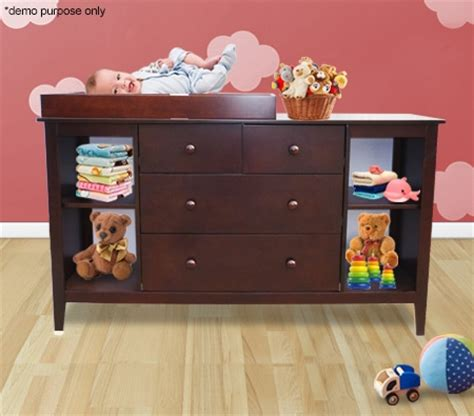 changing table with drawers and cabinet baby changing table cabinet with drawers walnut