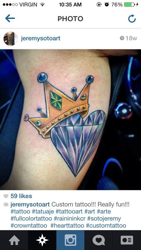 diamond tattoo with crown crown diamond tattoo tattoos pinterest diamond