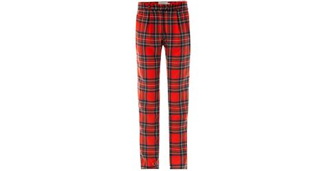 preen by thornton bregazzi bo tartan wool trousers in