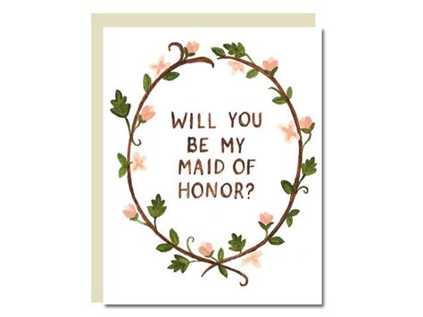 for every maid of honor who is stuck for words will you be my maid of honor card