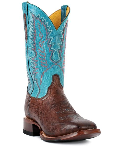 cinch mens boots cinch s 12 quot smooth ostrich square toe boots brown