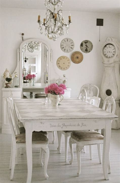 White Dining Room Centerpieces Furniture Fabulous White Dining Room Decoration Using