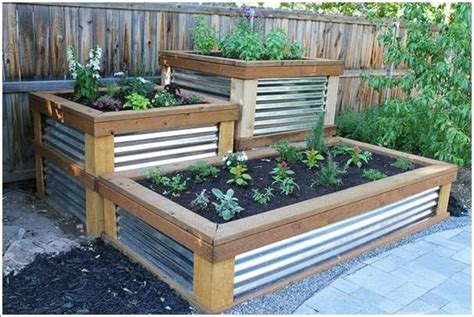 corrugated metal raised garden beds 15 stylish raised bed ideas for no grass outdoor areas