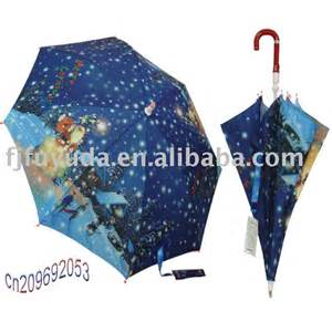 christmas umbrella blue baby umbrella auto children umbrella