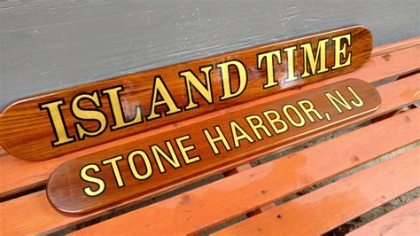 nautical name boards gold leaf island time designs signs - Boat Transom Name Boards