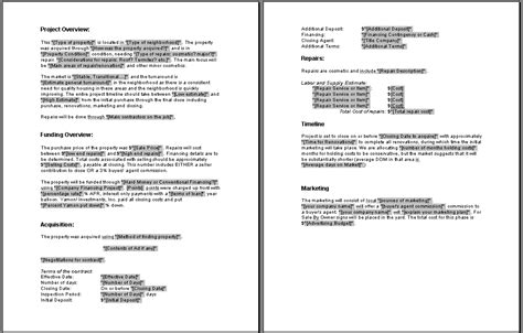 simple business plan template word plan template