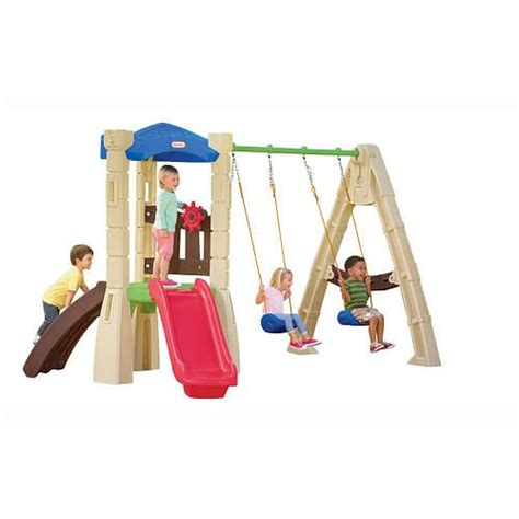 lil tikes swing set little tikes lookout swing set for hudson pinterest
