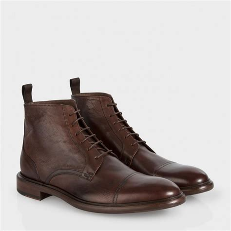 brown leather boots for paul smith s brown calf leather fillmore boots in