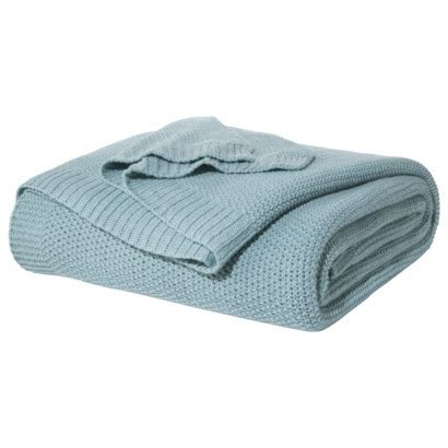 Threshold Knit Mattress Protector by Sweater Knit Blanket Everything Turquoise