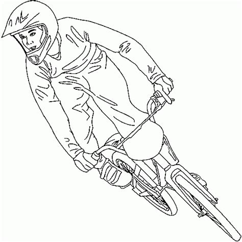 drawing from bmx freestyle jump sport coloring to print