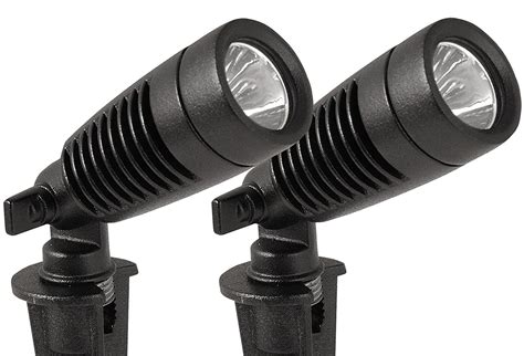 Led Spot Light Fixture Moonrays 95557 Led Outdoor Landscape Metal Spot Light Fixture 2 Pack Black 1 Ebay