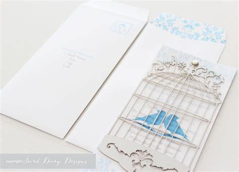 laser birdcage wedding invitations wedding