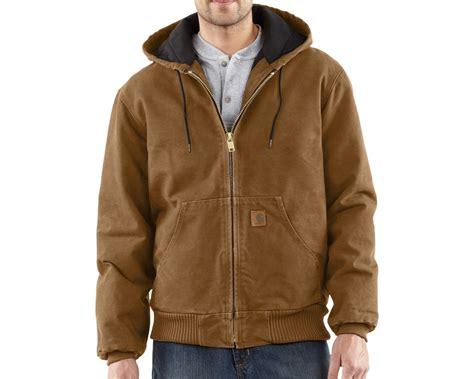 carhartt jacket carhartt quilted flannel lined sandstone active jacket j130 mammothworkwear