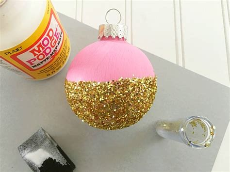 diy cancer ribbon ornaments diy ornament in pink gold moment