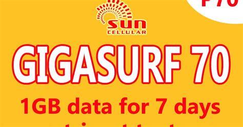 sun cellular gigasurf  promo gb data  tri net