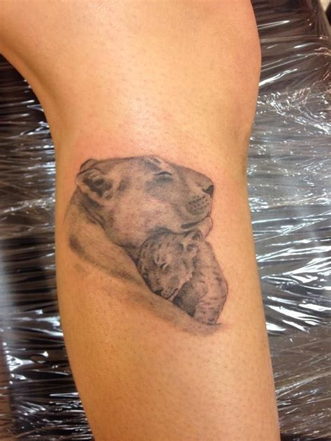 lion and cub tattoo lioness cub my tattoos my tattoos tattoos