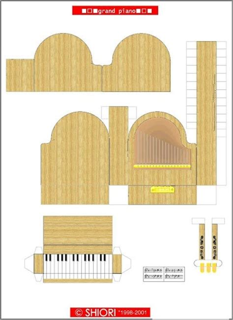 How To Make A Paper Piano - piano grand pianos and 3d paper on