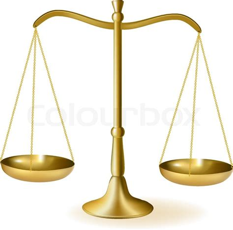 Brass scales of justice. Vector illustration   Stock ... Law Scale Of Justice