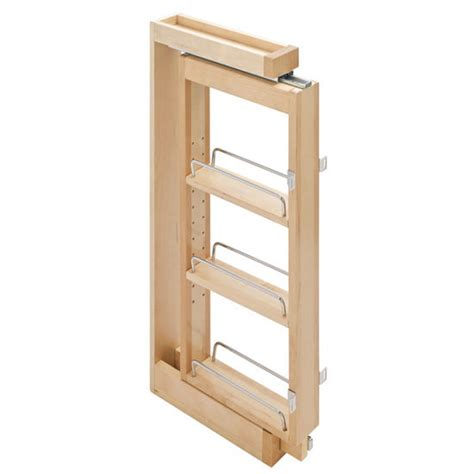 pull out spice rack for cabinets hafele maple kitchen cabinet wall filler pull out