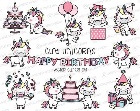clipart compleanno gratis premio vector clipart compleanno kawaii unicorni