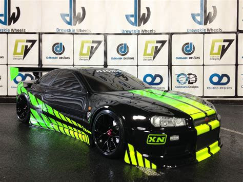 custom nissan skyline drift rtr oakman drift car is a fully customed rc car that comes