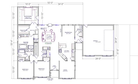 ranch floor plans with great room brewster modular ranch house