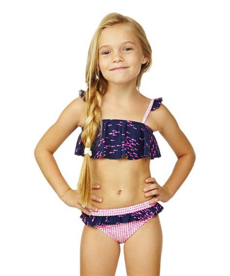 zulily little girls swimwear raisins girls wavy navy be free bikini girls zulily