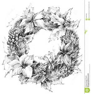 christmas wreath sketch santa claus background stock illustration image 62097695