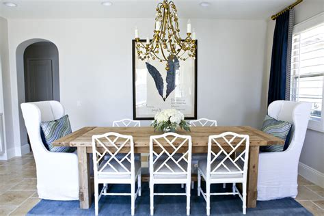 West Elm Rug by A Glamorous Dining Room In Navy White And Gold Studio