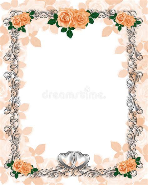 Wedding Border Clipart Vector Templates by Roses Template Wedding Invitation Stock Illustration