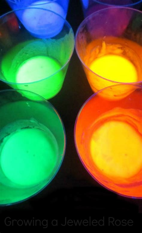 color glo glowing rainbow water growing a jeweled