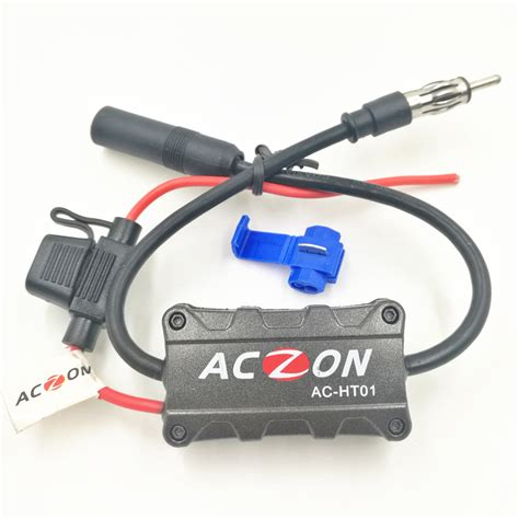 Booster Antena Toyosaki 1 car radio fm antenna signal lifier booster for both am and fm radio stations 6 8 in gps