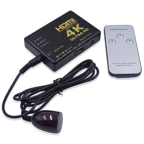 Hdmi Switcher 3 Port 4k X 2k Ultra Hd With Remote Hdmi Switcher 3 Port 4k X 2k Ultra Hd With Remote Black Jakartanotebook