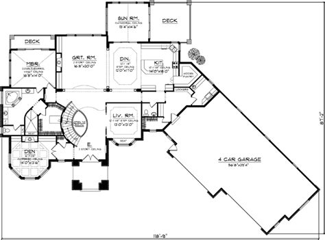 monster house plans com european style house plans 4540 square foot home 2