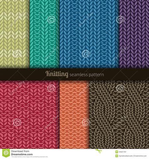 style knitting patterns seamless patterns knitting style stock image image 34621787