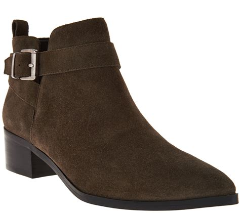 marc fisher boots marc fisher suede pointed toe ankle boots ireene page