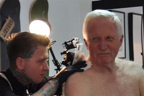 tattoo pictures on private parts david dimbleby has tattoo inked on shoulder aged 75 but