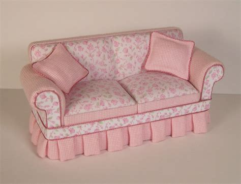 pink shabby chic sofa sc100 lee s line wholesale dollhouse miniature furniture fine