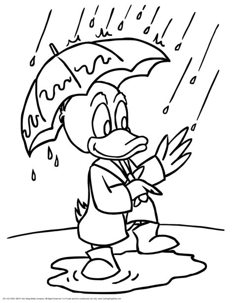 coloring book for child pdf coloring pages puddle duck with umbrella coloring page