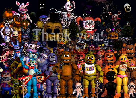 five nights at freddy s fan five nights at freddy s thank you image fan made by