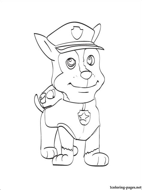 coloring pages of chase from paw patrol chase paw patrol coloring page coloring pages color