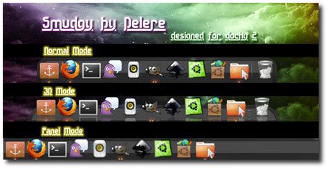 gnome docky themes smudgy for docky by delere on deviantart