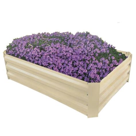 Powder Coated Planters by 288 Litres Raised Powder Coated Steel Planter