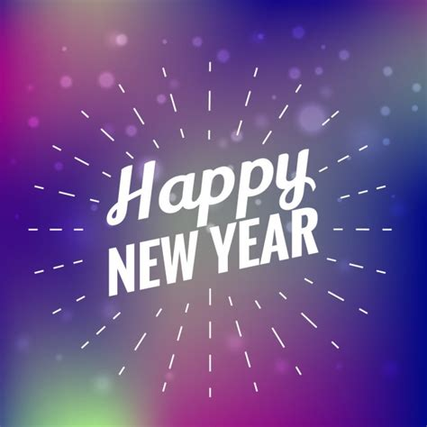 beautiful happy new year card vector free download
