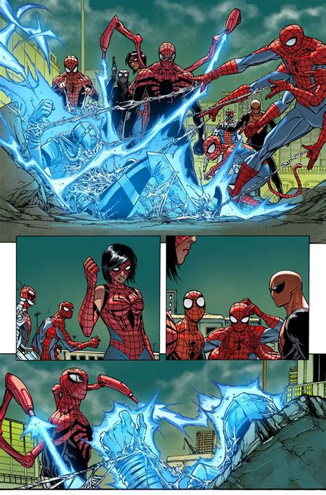 through the multiverse books comics otto octavius leads an army of spidey s in