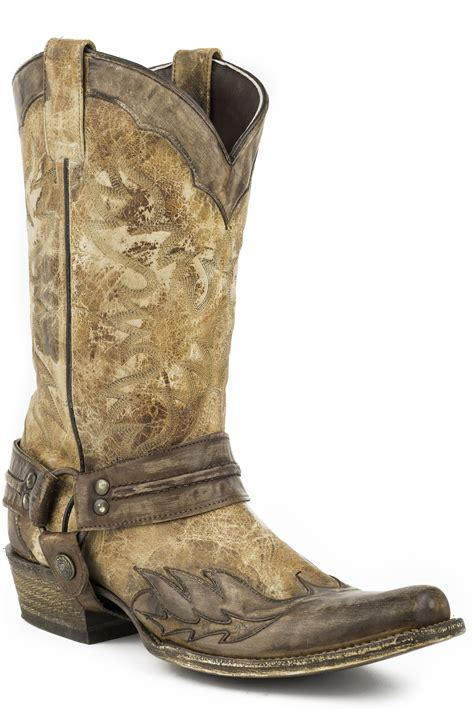 stetson mens cowboy boots stetson s washed crater brown wingtip cowboy boots